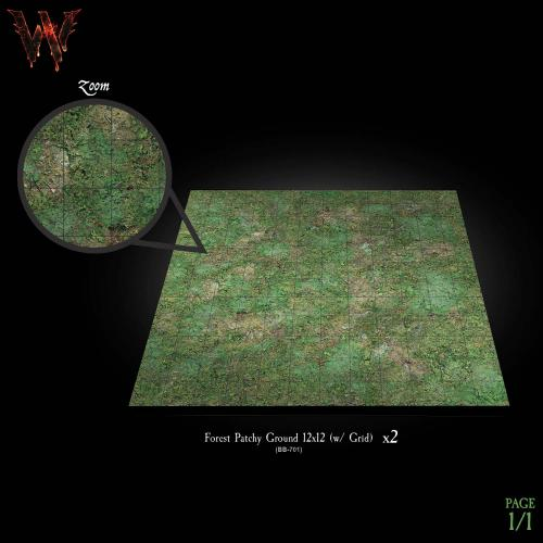7-A191 12x12 Forest Battleboards 2-pack