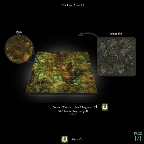 7-A207 Textured Swamp Water Terrain Tray Single