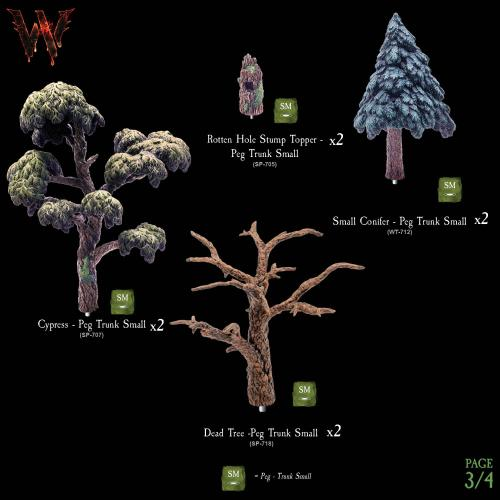 7-A177 Wildlands Trees - Mega Pack 3