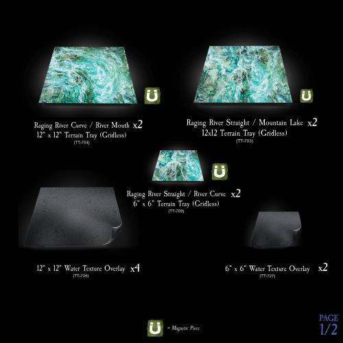 7-A239 Raging River Terrain Tray Multipack gridless option Image 1 of 2