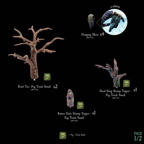 7-A188 Dying Forest Tree Toppers 1