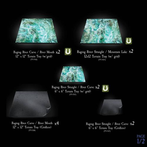 RIVER TERRAIN TRAY MULTI-PACK gridded option Image 1 of 2