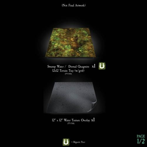 7-A207 Textured Swamp Water Terrain Tray Single Image 1 of 2