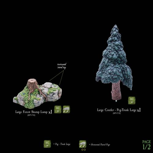 CONIFER TREE PACK 2