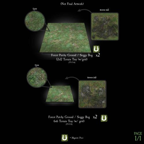 7-A201 Dreadhollow Forest Terrain Tray - Multi-Pack