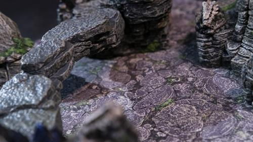 Natural bridge over mountain floor art without grid