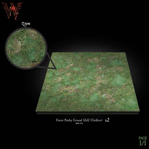 Product shot of forest floor battleboard without one inch grid