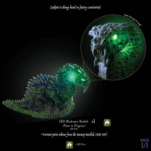 7-A151 LED Bleakmyre Basilisk product shot with LED glow