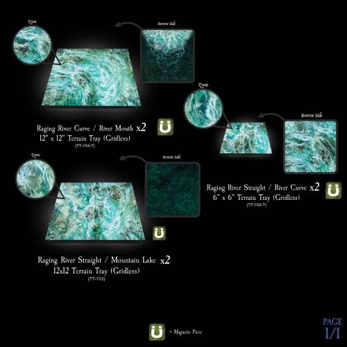 7-A239 Raging River Terrain Tray Multipack gridless option