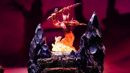 Behold the wrath of the fire elemental Myrmidon.